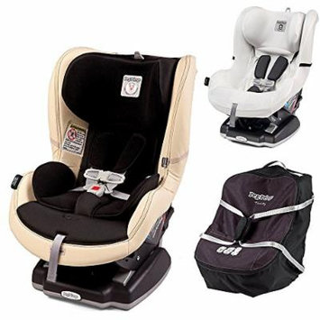 Peg Perego Primo Viaggio Infant Convertible Car Seat w Car Seat Travel Bag & Clima Cover, White (Paloma)