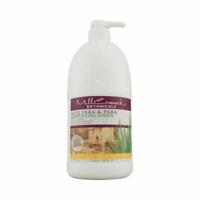 New - Mill Creek Botanicals Aloe Vera and PABA Moisturizing Lotion - 64 fl oz