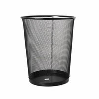 Rolodex Mesh Round Wastebasket, 11-1/2 Diameter x 14-1/4 H, Black (22351) (3, Black)