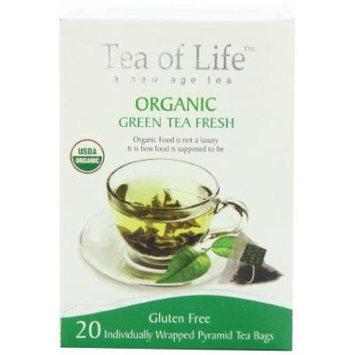 Tea Of Life Organic Green Tea, Fresh, 20 Count