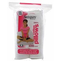 Swisspers Cotton Pillows Plush 100 Count Rectangular (2 Pack)
