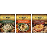 Wind & Willow Hot Dip Mix Variety Pack - Vegetable Garden, Spinach Parmesan, and Southwest Queso