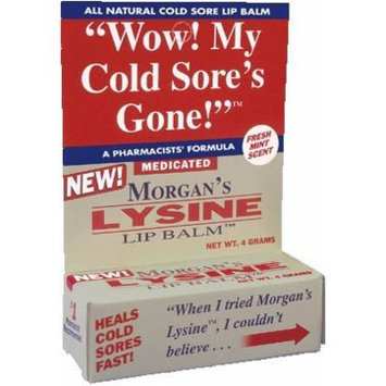 Morgans Lysine Lip Balm Medicated, 0.14 OZ (PACK OF 4)
