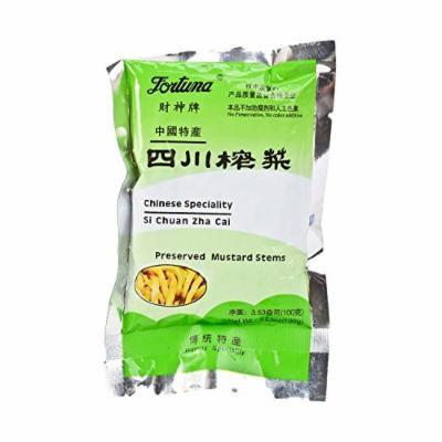 Fortuna Preserved Mustard Strips Si Chuan Zha Cai 3.5oz (6 PACKS)