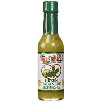 Marie Sharp's Green Habanero Pepper Hot Sauce, 5 fl oz (Pack of 3)