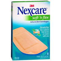 Nexcare Comfort Flexible Fabric Bandage, Knee and Elbow 8 ea Pack of 4