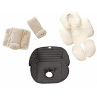 Summer Infant CushyStraps, Snuzzler Head & Body Support and Deluxe Piddle Pad Car Seat Liner, Tan