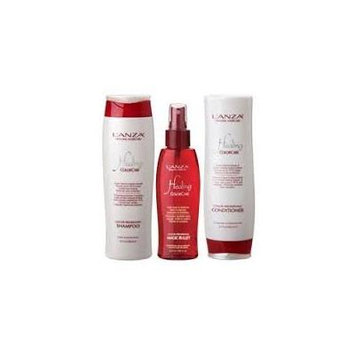 L'ANZA Healing ColorCare Color Preserving Shampoo-Conditioner-Leave in Protector SET