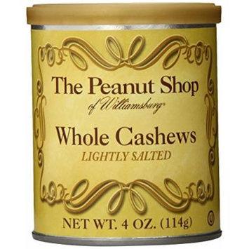 The Peanut Shop of Williamsburg Whole Cashews, 4-Ounce