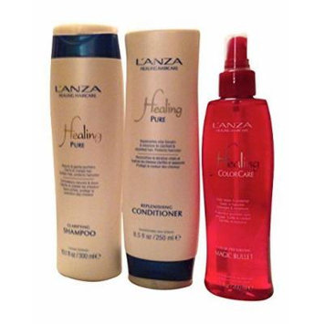 Lanza Swim & Sun Summer Hair Survival Kit with Shampoo Conditioner and Protector - Total 3 Items
