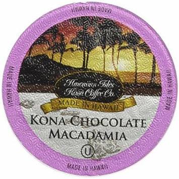 Chocolate Macadamia Flavor, 10% Kona Coffee Blend (10 Single Serve Cups)