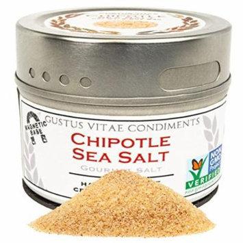 Gustus Vitae Chipotle Sea Salt, Non-GMO, 3.1 oz, Gourmet Salt