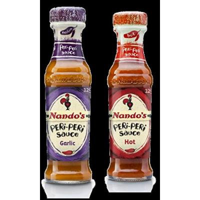 Nando's Periperi Sauce Combo-Garlic & Hot (Pack of 2)