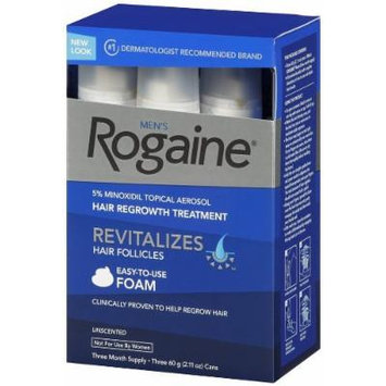 Rogaine for Men Hair Regrowth Treatment, Easy-to-Use Foam, 6 Month Pack (6 count- 2.11 oz Cans)