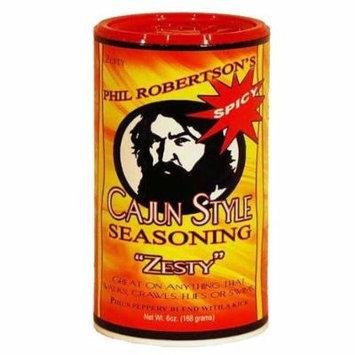 Duck Commander Phil Robertson's Cajun Style Seasoning 6oz Canister (Pack of 3) Choose Flavor Below (Zesty (Spicy))