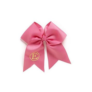 Personalized Hair Bow, Hot Pink, font:classic, color:yellow