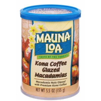 Mauna Loa Macadamias, Kona Coffee Glazed, 5.5-Ounce Canisters (Pack of 6)