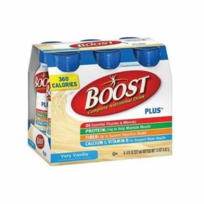 Boost Plus Very Vanilla Complete Nutritional Drink, 8 Fluid Ounce - 6 per pack -- 4 packs per case.
