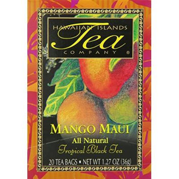 Hawaiian Islands Tea, Maui Mango, 1.27-Ounce Boxes (Pack of 6)