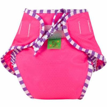 Kushies Swim Diaper, Pink Solid, Medium