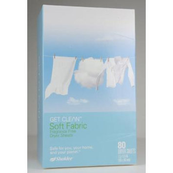 Soft Fabric Fragrance Free Dryer Sheets