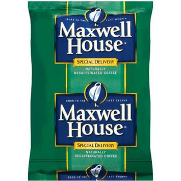 Maxwell House Special Delivery Ground Coffee, Decaffeinated, 1.5-Ounce Packages (Pack of 112)