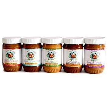 Wild Friends Nut Butter 16 oz. Jar Almond and Peanut Butter Variety Pack (Pack of 5)