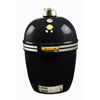 Grill Dome Infinity Series Ceramic Kamado Charcoal Smoker Grill, Black, Large