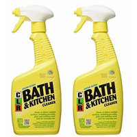 Jelmar PB-BK-2000 CLR Fresh Scent Bath and Kitchen Cleaner, 26 oz Trigger Spray Bottle - 2 Pack