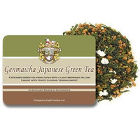English Tea Store Loose Leaf, Genmaicha Japanese Green Tea Pouches, 4 Ounce