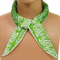 Jelly BeadZ Neck Cooling Scarf Wrap, Keep You Cool, Bandana, GREEN