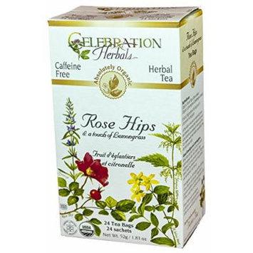 Celebration Herbals Rose Hips with Lemongrass Tea -- 24 Herbal Tea Bags