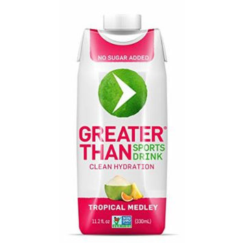 Greater Than Sports Drink, Tropical Blend, 11.2 Ounce (Pack of 12)