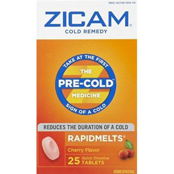 Zicam Cold Remedy RapidMelts 25 Count, Cherry Flavor (3 Pack)