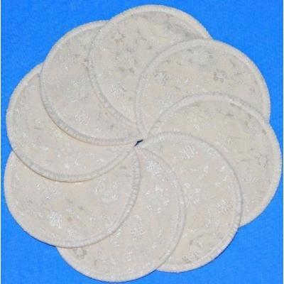 NuAngel Designer Washable Nursing Pads 100% Cotton - Natural Lace - Made in U.S.