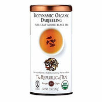 The Republic of Tea Biodynamic® Organic Darjeeling Black Full Leaf Tea, 2.8 ounces/50+Servings