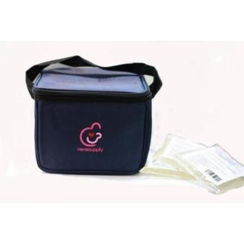 Bottle Cooler Bag and Ice Packs for Breastmilk Storage. Can Fit Into Medela P