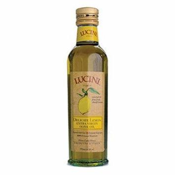 Lucini Extra Virgin Olive Oil, Delicate Lemon, 8.5-Ounce, Glass Bottle