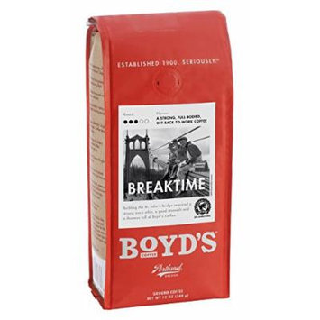 Boyd's Coffee Ground Coffee, Breaktime, 12 Ounce