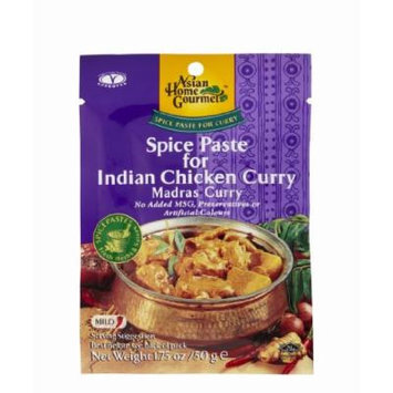 ASIAN HOME GOURMET Spice Paste for Indian Chicken Curry(Madras curry) 1.75 Ounce (Pack of 6)