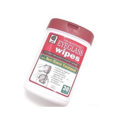 Set of 3 Pre-Moistened Eyeglass Wipes - 30 Wipes Each