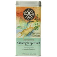 The Coffee Bean & Tea Leaf, Tea, Hand-Picked Ginseng Peppermint, 20 Count Tin