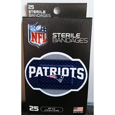 NFL New England Patriots 2015 Super Bowl Champions Sterile Bandages - 25 Bandages - Made in USA