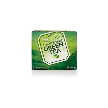 Great Value Decaffeinated Green Tea Tea Bags, 40ct(Case of 2)