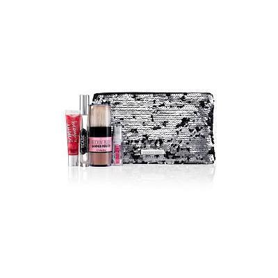Victoria's Secret Noir Tease Sequin Bag Set