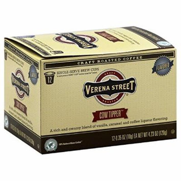 Verena Street 12 Pack, Flavored Coffee Single-Serve Brew Cups -Cow Tipper, Case Of 6