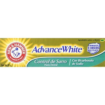 Arm & Hammer Advance White Mint Fluoride Toothpaste, Brilliant Sparkle, Tartar Control 4.3 oz (121 g)