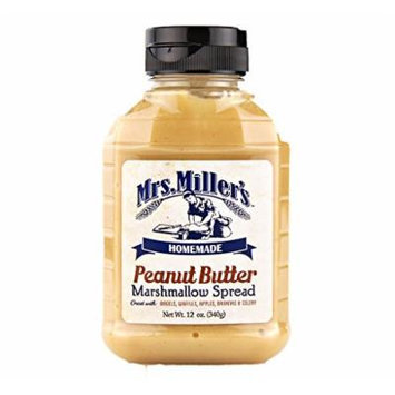 Amish Peanut Butter Marshmallow Whip - 4 / 12 Oz. Bottles, Mrs Millers Brand