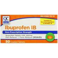 Quality Choice Ibuprofen IB 200mg. 50 Orange Coated Tablets, Boxes (Pack of 6)