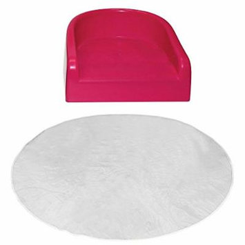 Prince Lionheart Soft Booster Seat with Protective Floor Mat, Pink